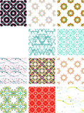 Set seamless geometric patterns - circles, swirls Stock Images