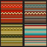 Set of seamless geometric Royalty Free Stock Image