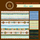 Set of seamless geometric patterns. Stock Photos
