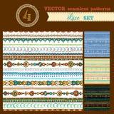 Set of seamless geometric patterns. Stock Photos