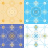 Set of seamless geometric patterns Stock Photography