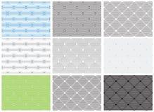 Set of seamless geometric patterns, opt art category. Royalty Free Stock Photo