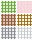 Set of seamless geometric patterns, opt art category. Stock Photos