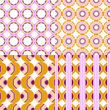 Set of seamless geometric patterns. Royalty Free Stock Photography