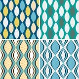 Set of seamless geometric patterns. Stock Images