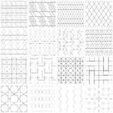 Set of 25 seamless geometric patterns. 25 Universal different vector seamless patterns. Endless texture can be used for wallpaper, pattern fills, web page Stock Photography