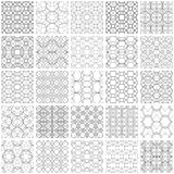 Set of 25 seamless geometric patterns. 25 Universal different vector seamless patterns. Endless texture can be used for wallpaper, pattern fills, web page Stock Photos