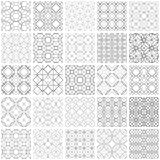Set of 25 seamless geometric patterns. 25 Universal different vector seamless patterns. Endless texture can be used for wallpaper, pattern fills, web page Stock Images