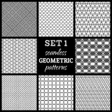 SET 1. Seamless geometric patterns. Stock Image