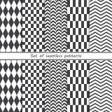 Set of seamless geometric patterns Stock Photo