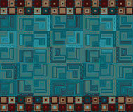 Set of seamless geometric square patterns Royalty Free Stock Photography