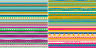 Set of seamless geometric striped patterns. For design royalty free illustration