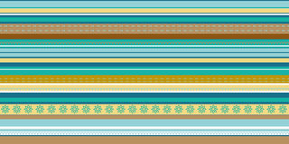 Set of seamless geometric striped patterns Stock Images