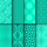 Set of seamless geometrical and doted patterns Royalty Free Stock Photos