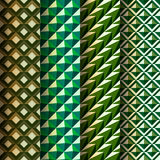 Set seamless geometrical patterns retro style Royalty Free Stock Images