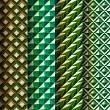Set seamless geometrical patterns retro style Royalty Free Stock Images