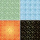 Set - seamless geometrical textures - vector Stock Photo