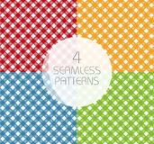 Set of seamless Gingham and Buffalo Check Plaid patterns Stock Photos
