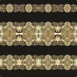 Set of laced borders decor Royalty Free Stock Photography