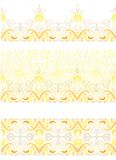 Set of laced borders decor Stock Images