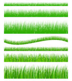 Set of seamless grass Stock Photos