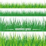 Set of seamless grass Stock Photography