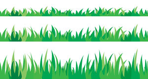 Set of seamless the grass. Royalty Free Stock Images