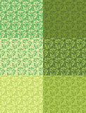 Set seamless green rustic background Stock Photos