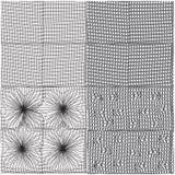 Set of seamless grunge geometric patterns Stock Photos