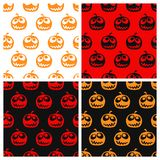 Set of seamless halloween pattern Royalty Free Stock Photos