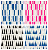 Set of seamless hand drawn patterns with squares and triangles. Vector illustration Royalty Free Stock Images