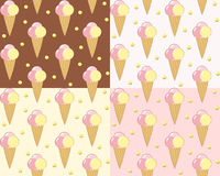 Set seamless with ice cream. Royalty Free Stock Images