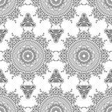 Set of seamless indigo patterns in blue for floor tiles, ornamental collection for glazed ceramic. Vintage Illustration Stock Photo
