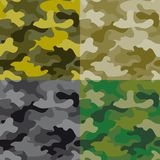 Set of seamless khaki patterns Royalty Free Stock Images