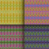 Set of seamless knitted patterns. Set of traditional christmas knitted Scandinavian seamless patterns Royalty Free Stock Photo