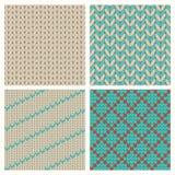 Set of seamless knitting patterns royalty free illustration