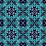 Set of seamless laced border patterns Stock Images