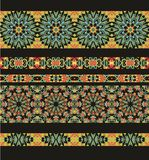 Set of seamless laced border patterns Royalty Free Stock Photos