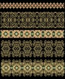 Set of seamless laced border patterns Stock Image