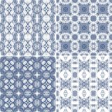 Set of seamless laced patterns Stock Images