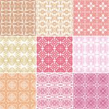 Set of seamless laced patterns Stock Image