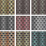Set of seamless metal backgrounds. To create beautiful designs Royalty Free Stock Photography