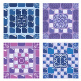 Set of seamless mosaic patterns Stock Images