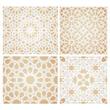 Set of seamless mosaic patterns in oriental style Stock Images