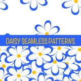 Set of seamless naive minimalistic patterns with little flowers. Stock Images
