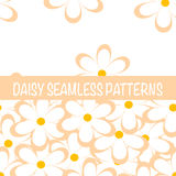 Set of seamless naive minimalistic patterns with little flowers. Stock Photography