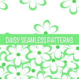 Set of seamless naive minimalistic patterns with little flowers. Royalty Free Stock Image