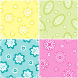 Set of seamless nature patterns. Set of four seamless nature patterns Stock Photo