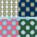 Set of seamless ornamental patterns Stock Image
