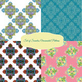 Set of seamless ornamental patterns Royalty Free Stock Image